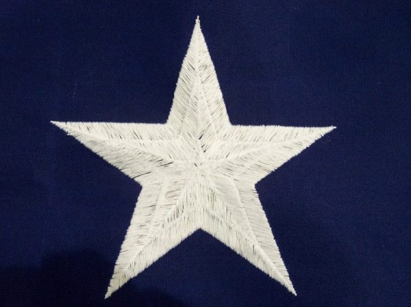 Sewn and Embroidered Star