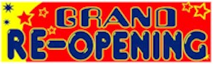 Retro Grand Re-Opening Banner