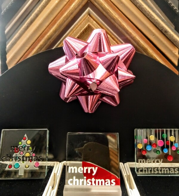 """Merry Christmas"" Glass Tiles"