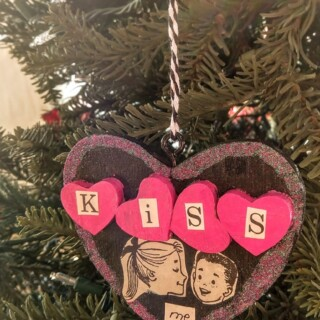 "Handmade ""Kiss Me"" Ornament"