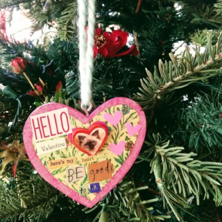"Handmade ""Here's My Heart"" Ornament"
